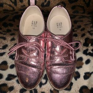 Like new pink Gap Kids Oxfords